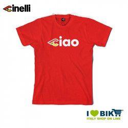 Maglietta Cinelli Ciao, maniche corte, in cotone, rossa