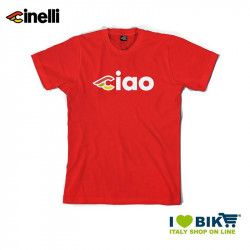 T-shirt Cinelli Ciao, cotton, short sleeves, red