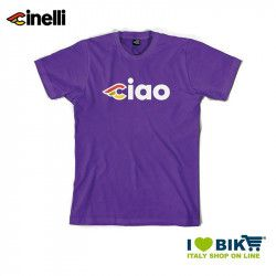 Maglietta Cinelli Ciao, maniche corte, in cotone, viola