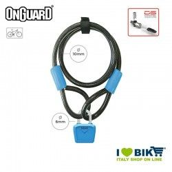 Padlock Cable 120cmx8mmx10mm OnGuard Neon Bull, Azure Fluo OnGuard - 1