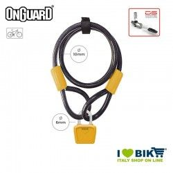 Padlock Cable 120cmx8mmx10mm OnGuard Neon Bull, Orange Fluo OnGuard - 1