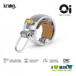 Campanello 22,2 mm, Knog Oi Luxe, Argento