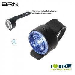 Fanalino posteriore 1 led bianco 12 lumen, BRN Round, 2 batterie BA02D incluse