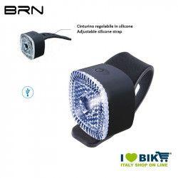 Fanalino anteriore 1 led bianco 12 lumen, BRN Square, ricarica USB