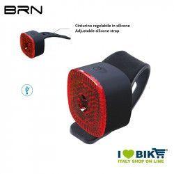Fanalino posteriore 1 led rosso 6 lumen, BRN Square, ricarica USB
