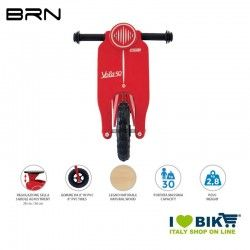 Wooden bike without pedals BRN VOLA 50, red BRN - 2