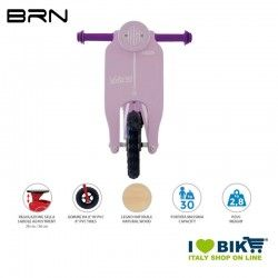 Wooden bike without pedals BRN VOLA 50, Pink BRN - 2