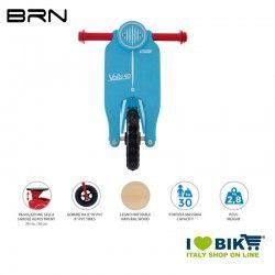 Wooden bike without pedals BRN VOLA 50, Light Blue BRN - 2