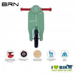Wooden bike without pedals BRN VOLA 50, Sky Blue BRN - 2
