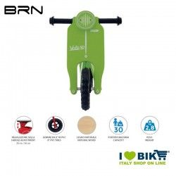Wooden bike without pedals BRN VOLA 50, Green BRN - 2