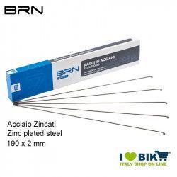 BRN Steel Spokes with nipples 190 x 2 mm, 144 pcs