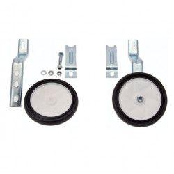 Paio ruotini stabilizzatori registrabili 12 - 20 con staffe antimovimento