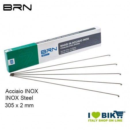 Raggi Acciaio Inox con nipples 305 x 2 mm, 144 Pz.
