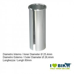 Seatpost adapter from 25,4mm to 26,4mm, length 80mm