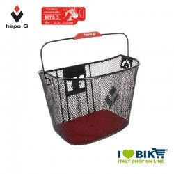 Front basket with quick attach release black Hapo-G - 1