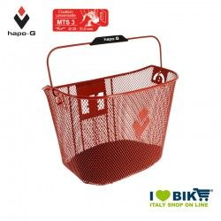 Front basket with quick attach release red Hapo-G - 1