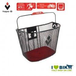 E-bike front basket with quick attach release Black Hapo-G - 1