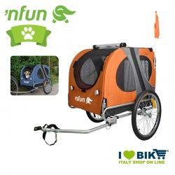 Carrellino porta animali max 40 kg arancio/grigio