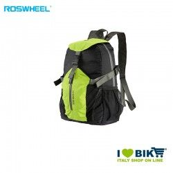 Folding backpack with helmet holder black/lime