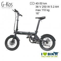 "G-KOS G-bike R Bicicletta elettrica pieghevole 16"""