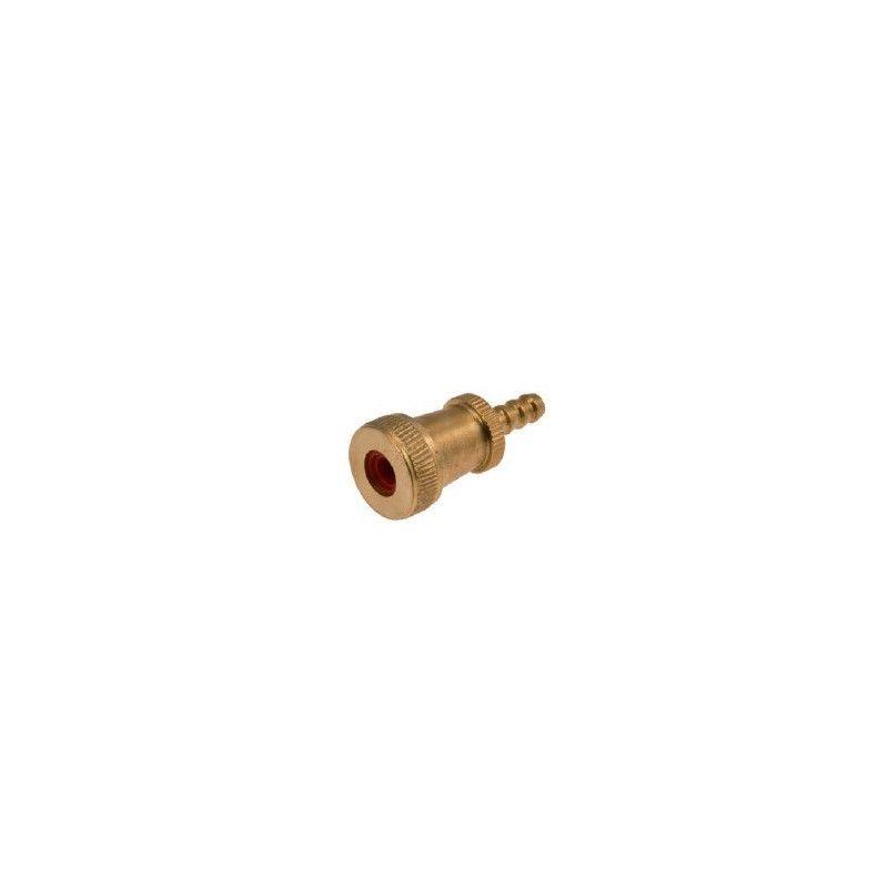 Pump connector run small brass  - 1