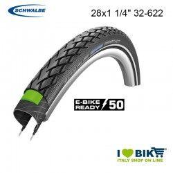 Tire 28x1 1/4 Schwalbe Marathon HS 420 TwinSkin Black
