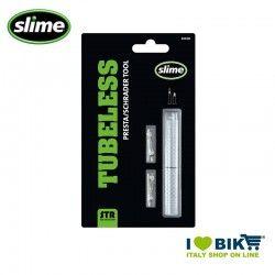 Slime Presta / Schrader STR tool two inserts for Presta valve
