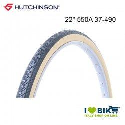 """Tire 22"""" 550A Hutchinson Junior hard cover 37-490 black beige"""