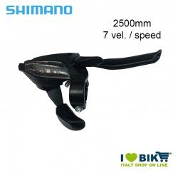 Brake/Shift lever 7 Speed, right, Shimano ST-EF 500, 2050mm, black