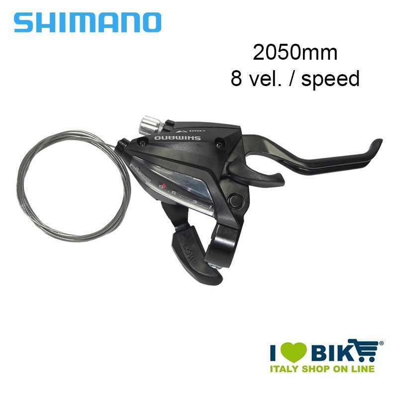 Brake/Shift lever 8 Speed, Shimano ST-EF 500, 2050mm, right
