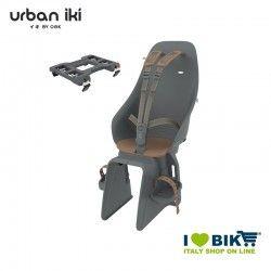 Seggiolino Urban Iki al portapacchi Bincho black Kurumi brown