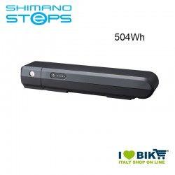 Batteria portapacchi BT-E6001 Shimano STEPS 36V 504Wh grigia