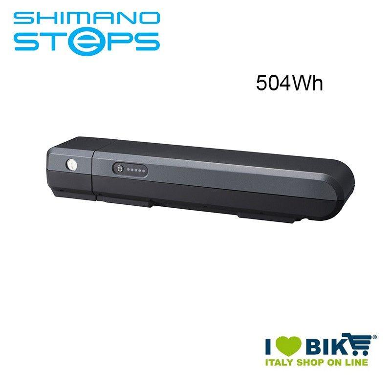 Batteria portapacchi BT-E6001 Shimano STEPS 36V 504Wh grigia Shimano Steps - 1