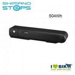 Batteria portapacchi BT-E6001 Shimano STEPS 36V 504Wh nera
