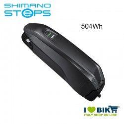 Batteria Tubo Obliquo BT-E8010 Shimano STEPS MTB 36V 504Wh nera