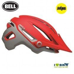 Sixer RIDGELINE MATTE CRIMSON/GRAY Bell Helmet