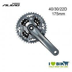 Crank Shimano triple 40/30/22 FC M4000 9v Grey