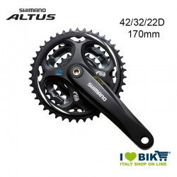 Crank Shimano Altus triple  FC-M311 42/32/22D 170mm 8speed Black