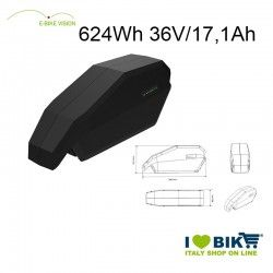 Batteria E-Bike Vision 624Wh compatibile Bosch