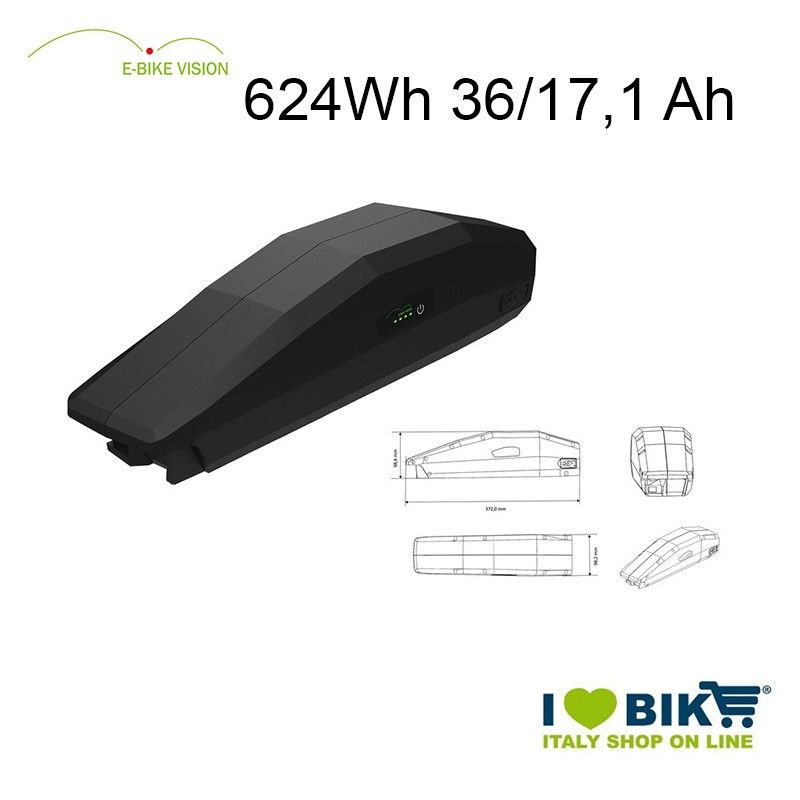 E-Bike Vision Battery 624Wh Yamaha compatible EBike Vision - 1