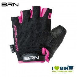 Guanti ciclismo BRN Air Pro nero/fuxia fluo