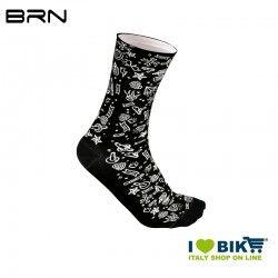 Calzini Ciclismo BRN Rock'n' Roll Nero/Bianco