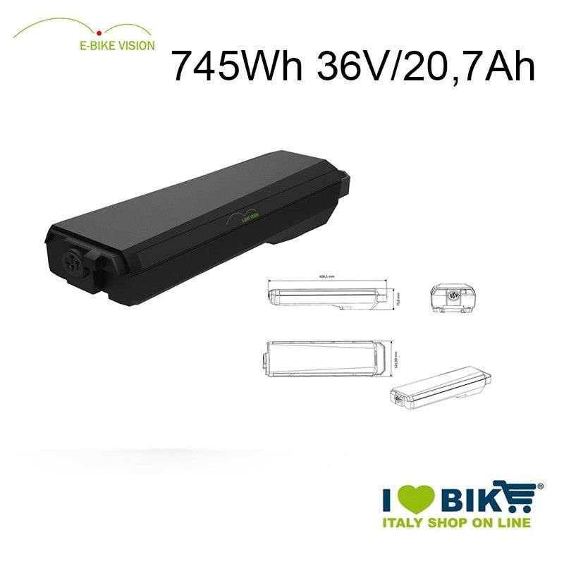 E-Bike Vision luggage rack Battery 745Wh Bosch compatible EBike Vision - 1