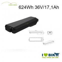Batteria portapacchi E-Bike Vision 624Wh compatibile Bosch