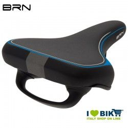 Black BRN E-bike seat with reflective elements