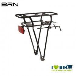 Rear luggage/battery rack, 26-28, comp. YUKO JAVA - ANSMANN, aluminium, black  - 1