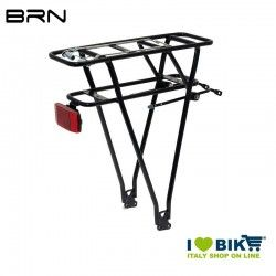 Rear luggage/battery rack 26-28 comp. Shimano aluminium black  - 1