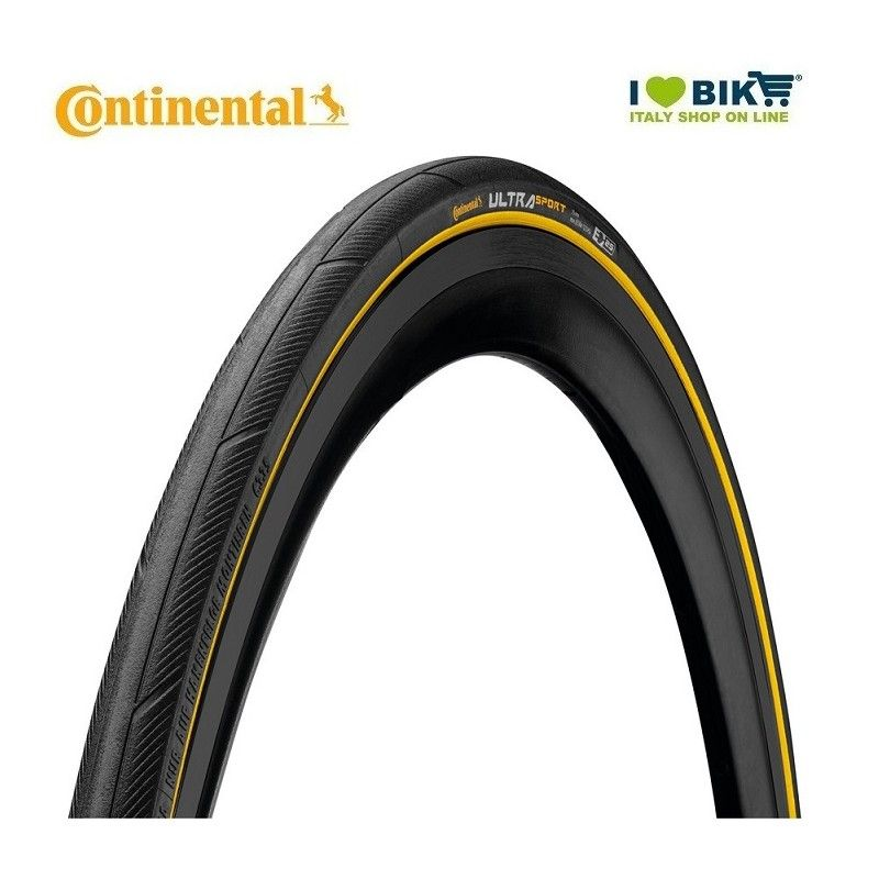 Continental Ultra Sport II 700x23 Black yellow Cover bike store