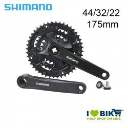 Crank Shimano 44/32/22 175mm 9Speed square pin with chainstay
