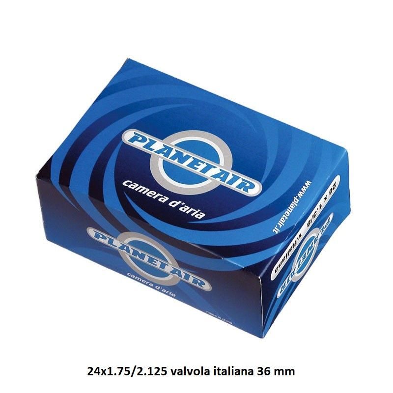Camera d'aria misura 24-9 24 x 1.75/2.125 valvola italiana 36 mm  - 1